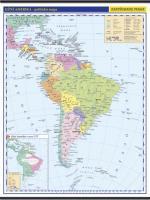 Jižní Amerika -školní- politická - nástěnná mapa - 1:10 000 000