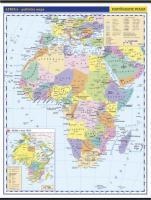 Afrika -školní- politické rozdělení - nástěnná mapa - 1:10 000 000