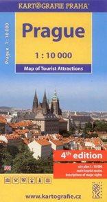 Praha 1:10 000 - mapa turistických zajímavostí - anglická verze, 6. vydání