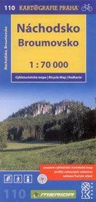 Náchodsko, Broumovsko - cyklo KP č.110 - 1:70 000
