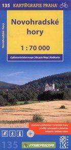 Novohradské hory - cyklo KP č.135 - 1:70 000
