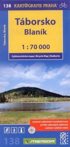 Táborsko, Blaník - cyklo KP č.138 - 1:70 000