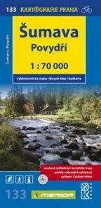 Šumava - Povydří, Pláně - cyklo KP133 - 1:70 000