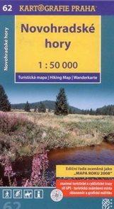 Novohradské hory - mapa Kartografie č.62 - 1:50 000