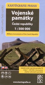 Vojenské památky ČR - mapa Kartografie Praha 1:500 000