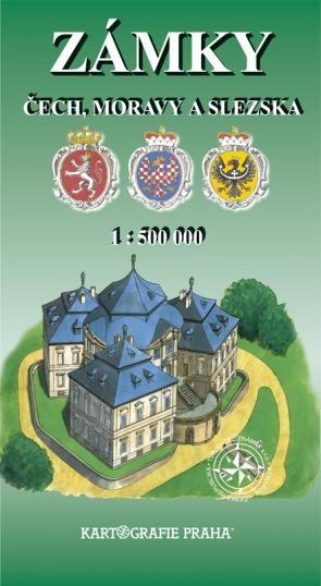 Zámky Čech, Moravy a Slezska - mapa Kartografie Praha 1:500 000