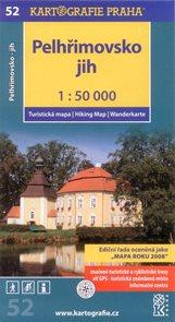 Pelhřimovsko - jih - mapa Kartografie č.52 - 1:50 000