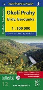 Okolí Prahy - Brdy, Berounka - mapa KP12 - 1:100t