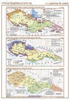 Vývoj českého státu III. (1. pol. 20. stol.) nástěnná mapa
