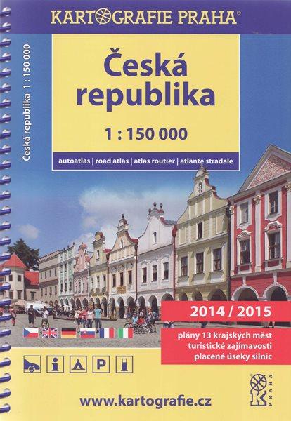Česká republika autoatlas 1:150 000 2014/2015 - 17×24