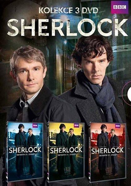 Sherlock: kompletní 1. série 3 DVD - neuveden - 13x19