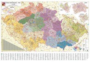 Rámovaná Česká republika PSČ 135x95 cm