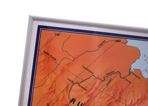 Rámovaný Svět obří politická mapa 195x120 cm