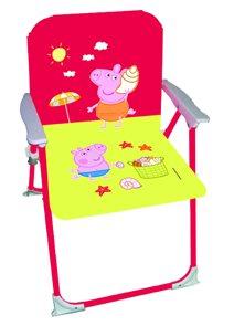 Červená židlička pro dítě s Prasátkem Peppa