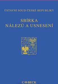 Sbírka nálezů a usnesení ÚS ČR, sv. 63 (bez CD)