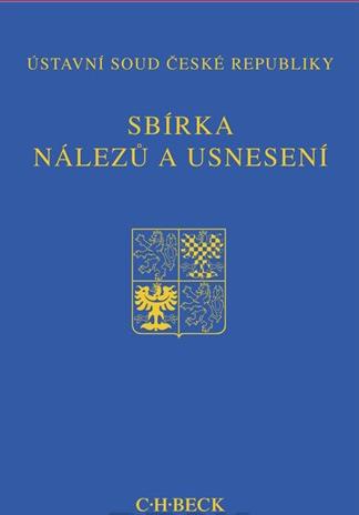 Nakladatelství C.H.Beck, s.r.o Sbírka nálezů a usnesení ÚS ČR, sv. 63 (bez CD) - Ústavní soud ČR