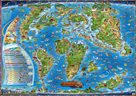 Dětská mapa - Dinosauři a prehistorický svět