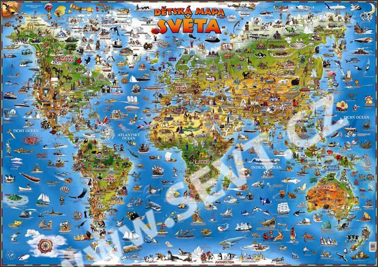 Detska Mapa Sveta Nastenna Mapa Sevt Cz