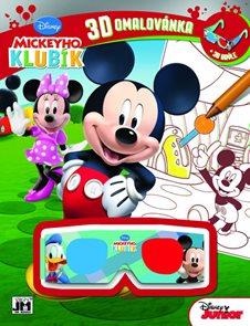 3D omalovánka Mickeyho klubík A4