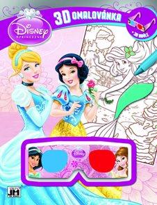 3D omalovánka Disney Princezny A4