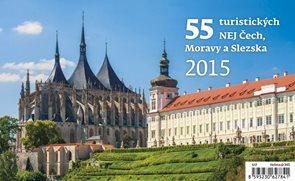 Helma Stolní kalendář týdenní - 55 turistických NEJ Čech, Moravy a Slezka