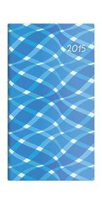 Helma diář kapesní 2015 Napoli čtrnáctidenní 8,5 x 15,4 cm - design 04
