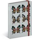 Notes s gumičkou - Motýl