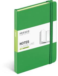 Notes Tucson s gumičkou - zelená