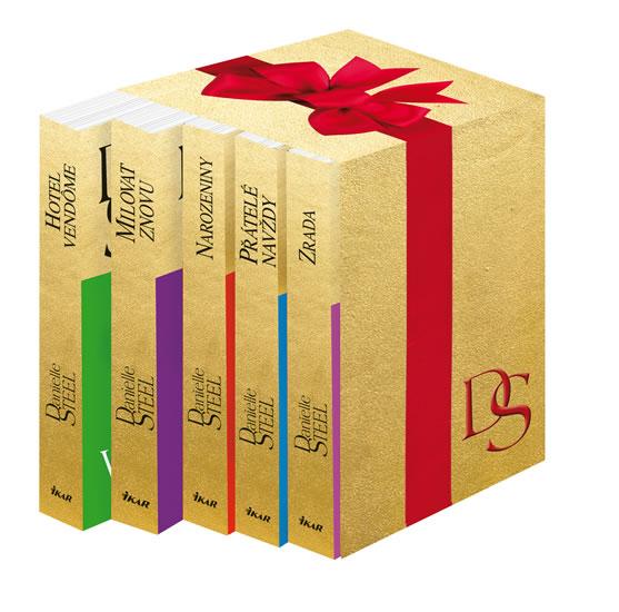 Vánoční komplet Danielle Steel (Přátelé navždy, Zrada, Milovat znovu, Narozeniny, Hotel Vendôme) - Steel Danielle - 12x19 cm