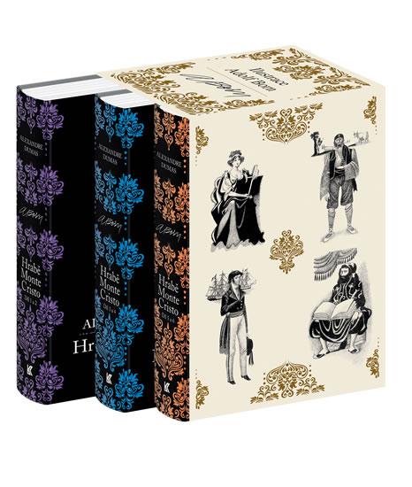 Hrabě Monte Cristo - komplet dárkový box - Dumas Alexandre - 15x24 cm