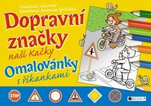 Dopravní značky naší Kačky - omalovánky