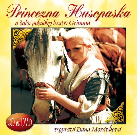 Princezna husopaska a další pohádky bratří Grimmů CD+DVD (čte Dana Morávková) - neuveden