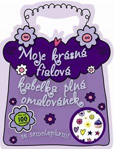 Moje krásná fialová kabelka plná omalovánek