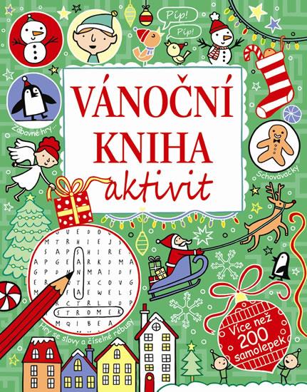 Vánoční kniha aktivit - více než 200 samolepek - neuveden - 22x28 cm