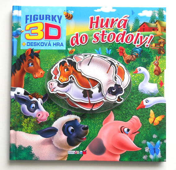 Hurá do stodoly! - 3D figurky + desková hra - neuveden - 26x26 cm