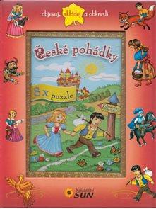 České pohádky - 8x puzzle, objevuj, skládej a obkresli