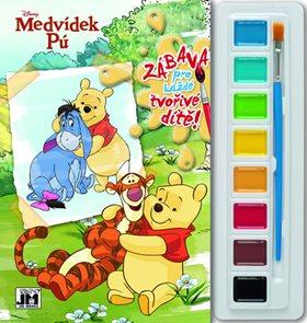 Medvídek Pú - Omalovánky s barvami A5