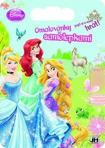 Princezny - Omalovánky se samolepkami