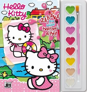 Hello Kitty - Omalovánky s barvami