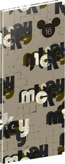 Diář 2016 - W. D. Mickey - kapesní plánovací měsíční, - neuveden - 8x18 cm