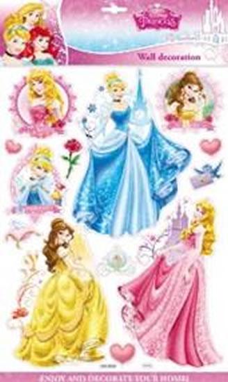 Princezny - 3D samolepky na zeď - Disney Walt - 30x50 cm