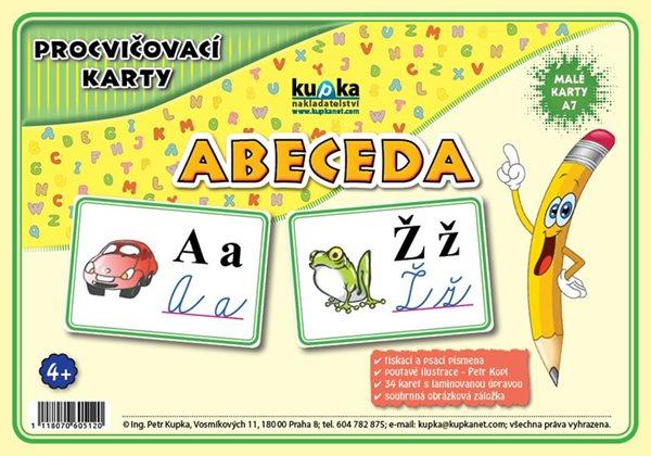 Procvičovací karty - abeceda - Kupka Petr
