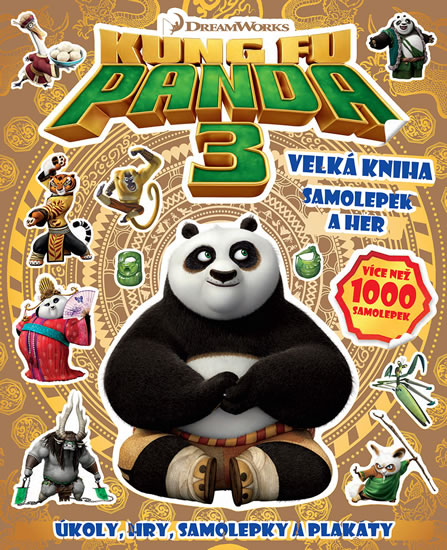 Kung Fu Panda 3 - Velká kniha samolepek a her - neuveden