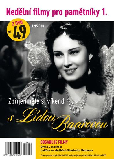 Nedělní filmy pro pamětníky 1. - Lída Baarová - 2 DVD pošetka - neuveden
