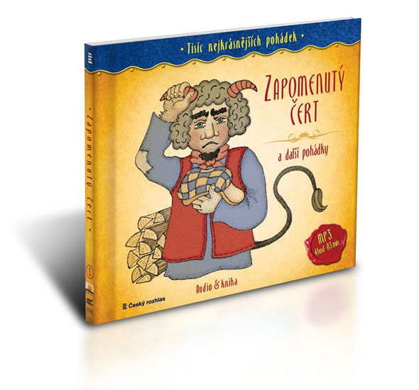 Tisíc nejkrásnějších pohádek - Zapomenutý čert a další pohádky ( Audio 1CD MP3 + kniha) - Drda Jan
