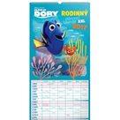 Kalendář nástěnný 2017 - Hledá se Dory/Rodinný plánovací XXL