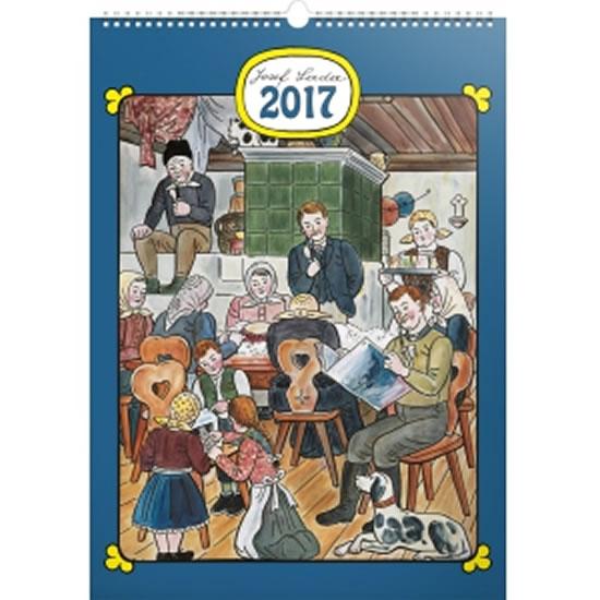 Kalendář nástěnný 2017 - Josef Lada/Doma - neuveden