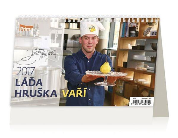 Kalendář stolní 2017 - Láďa Hruška vaří - neuveden - 226x139 mm