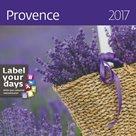 """Kalendář nástěnný 2017 """"label your days"""" - Provence"""