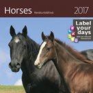"""Kalendář nástěnný 2017 """"label your days"""" - Horses"""